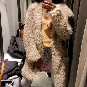 Faux Fur Coat Zara